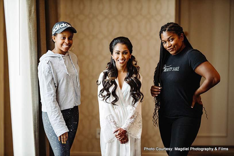 Hair and make-up team