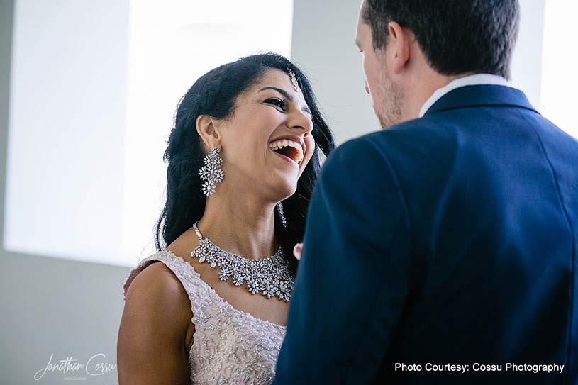 Bride looking in grooms Eyes