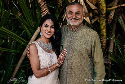 Indian Bride posing with her dad