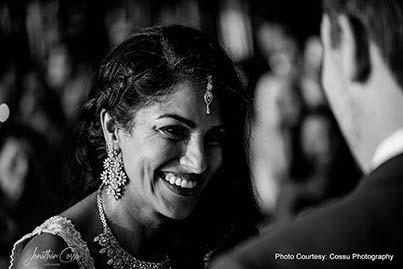 Monochrome Click of Indian bride
