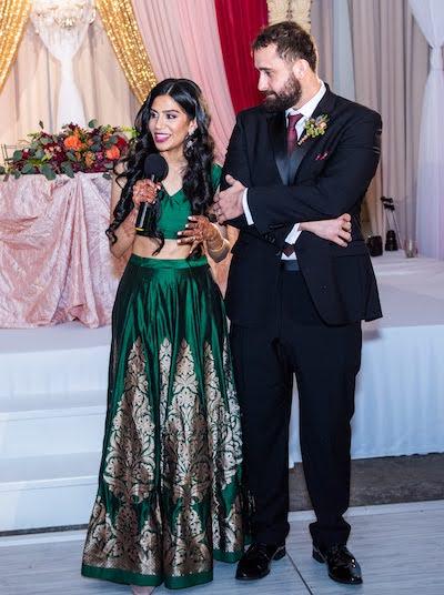 Bride Giving reception speech